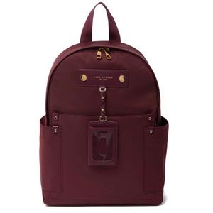 Marc Jacobs Preppy Nylon Dark Wine Large Backpack